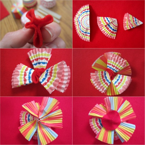 Tutorial for Cupcake Liner Flowers
