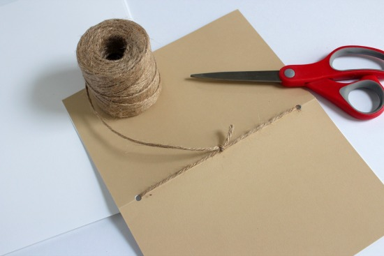 Tying Twine for a paper album