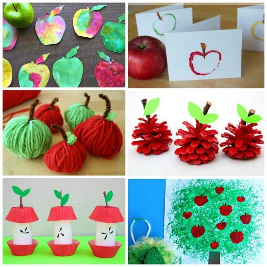 Apple Crafts Collage
