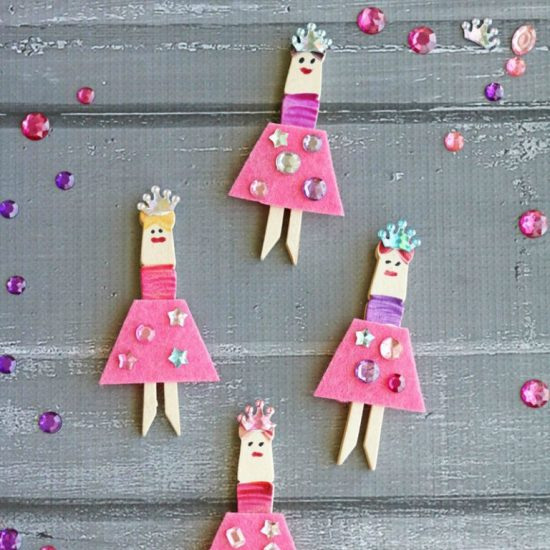 Clothespin Crafts Ballerina