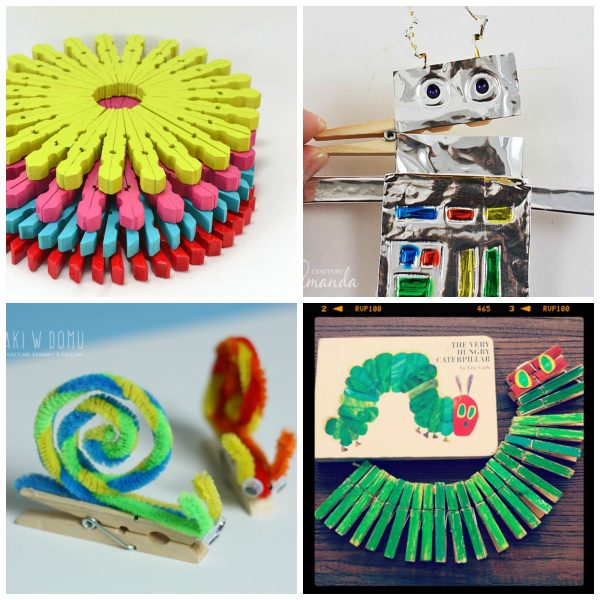 15 Clothespin Crafts Your Little Ones