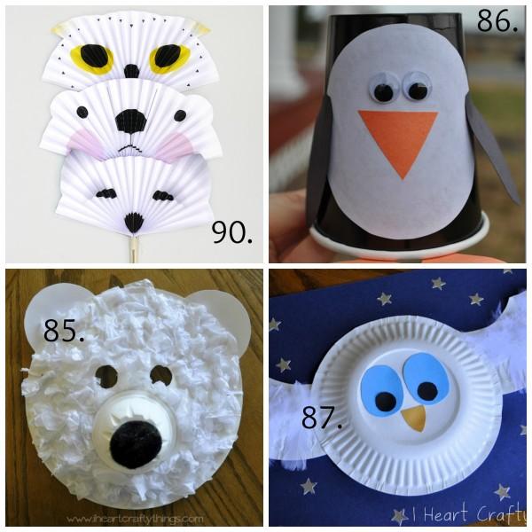 Winter Kids Crafts Animal