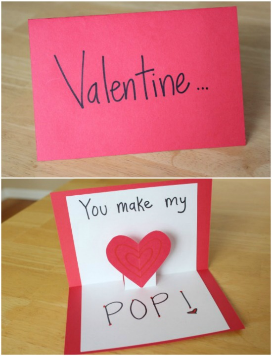 Valentine cards that make your heart pop make and takes How to make a valentine card for your girlfriend