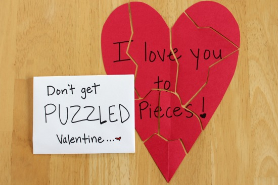 Puzzling Cards for Your Valentine | Make and Takes