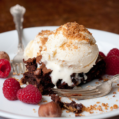 Valentine's Day Brownie Sundae for Two