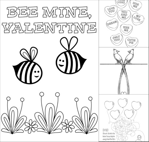 Valentines Day Coloring Pages Make and Takes