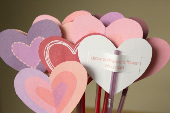 photo regarding Printable Valentine Craft named Counting Down toward Valentines with 14 Functions of Enjoy + a No cost