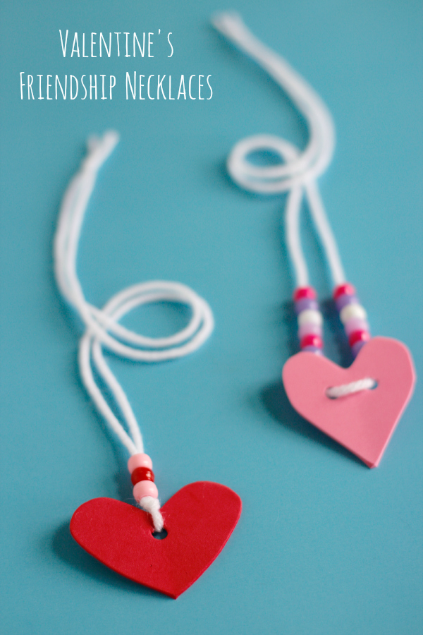 Valentine's Day Friendship Necklaces for Kids