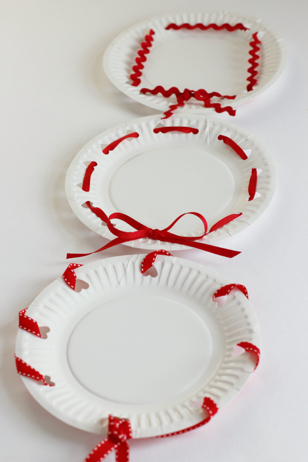 Valentine's Day Heart Hole Punched Treat Plates