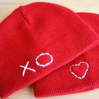 Stitched Valentine's Hats
