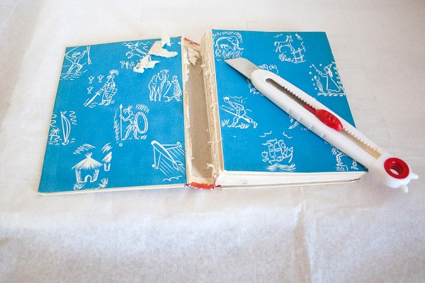 Vintage Book Cover Journal by Francine Clouden at Make & Takes-1