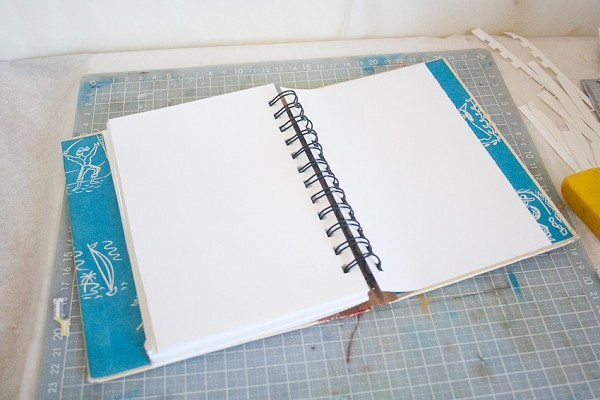 Vintage Book Cover Journal by Francine Clouden at Make & Takes-12