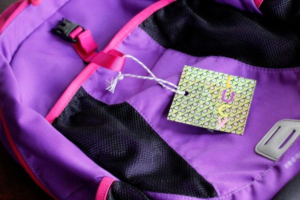 Washi Tape Cereal Box Backpack Tags