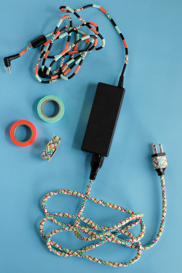 Washi Tape DIY Computer Cord
