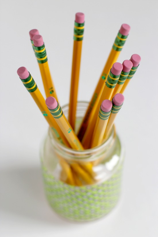 Washi Tape Pencil Holders - great gift!