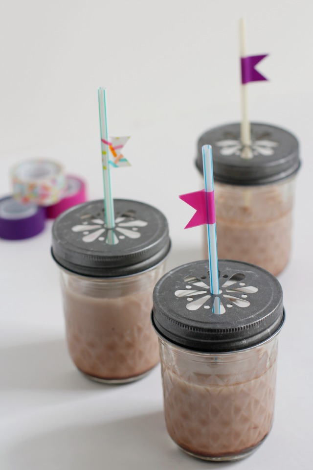 Washi Tape Straw Sippers