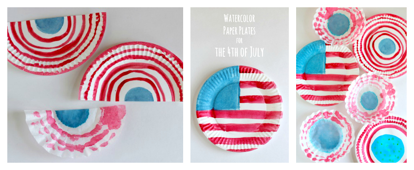 Watercolor 4th of July Flags for a Summer Holiday