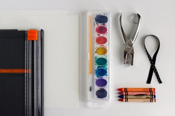 Watercolor Bookmark Supplies