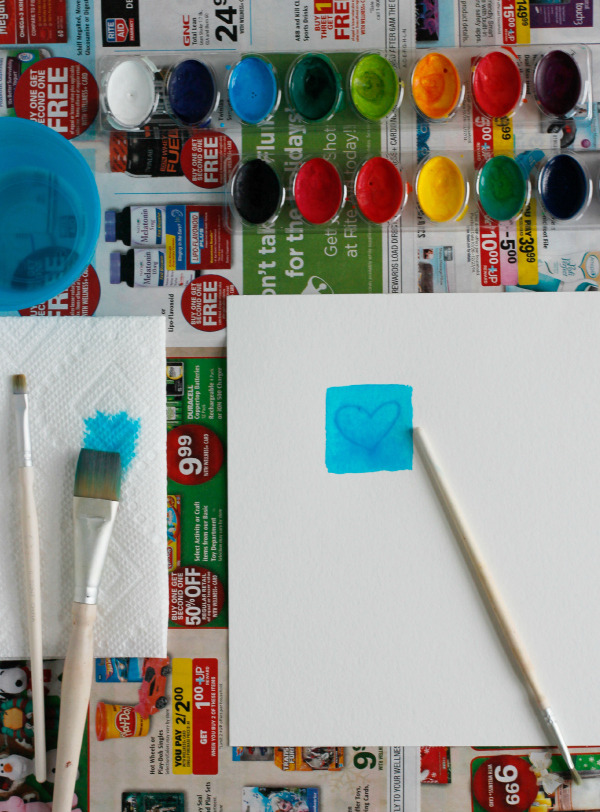 Watercolor Painting Indent Designs with your Brush