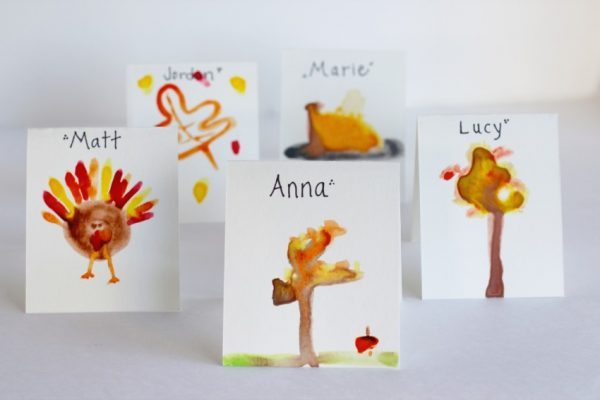 Watercolor Thanksgiving Placecards
