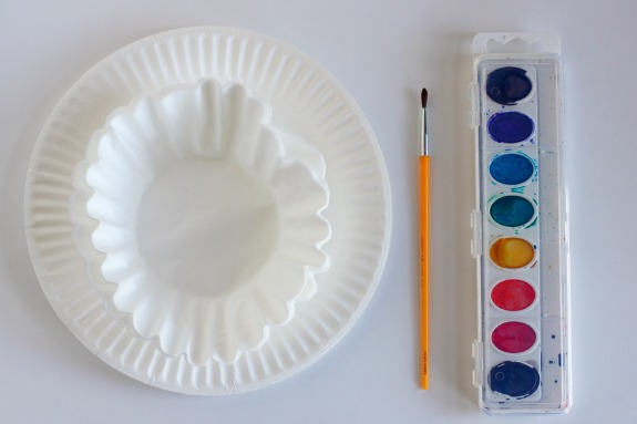 Watercolor with Paper Plates and Coffee Filters