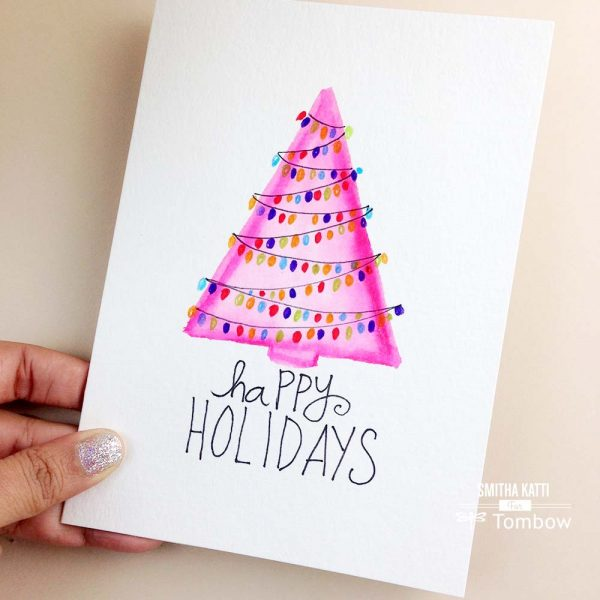 DIY Hand Painted Holiday Cards