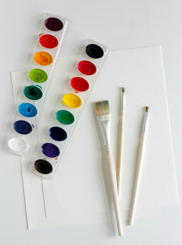 Watercoloring Supplies Painting Indent Designs