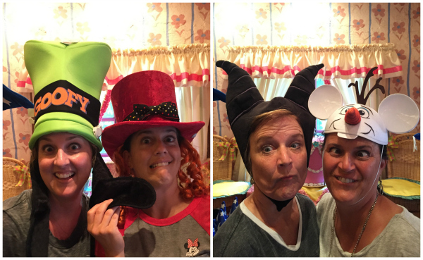Wearing Silly Disneyland Hats
