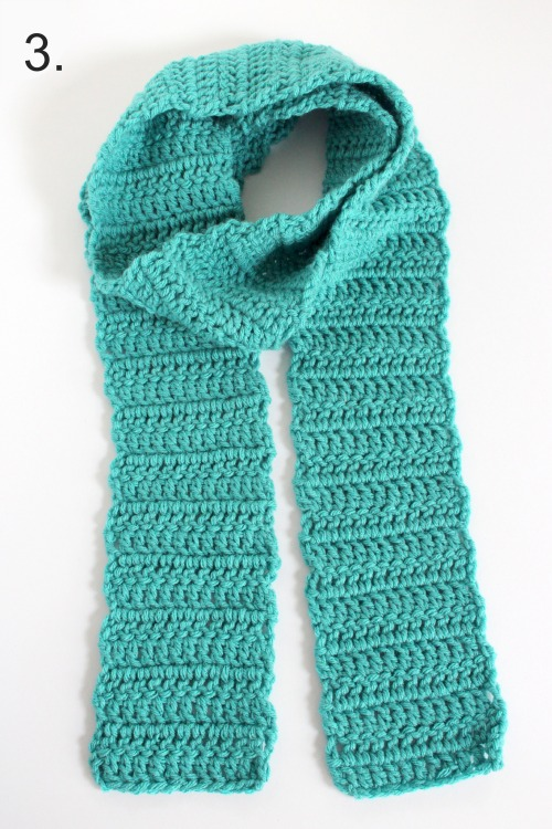 Wearing a Crocheted Scarf