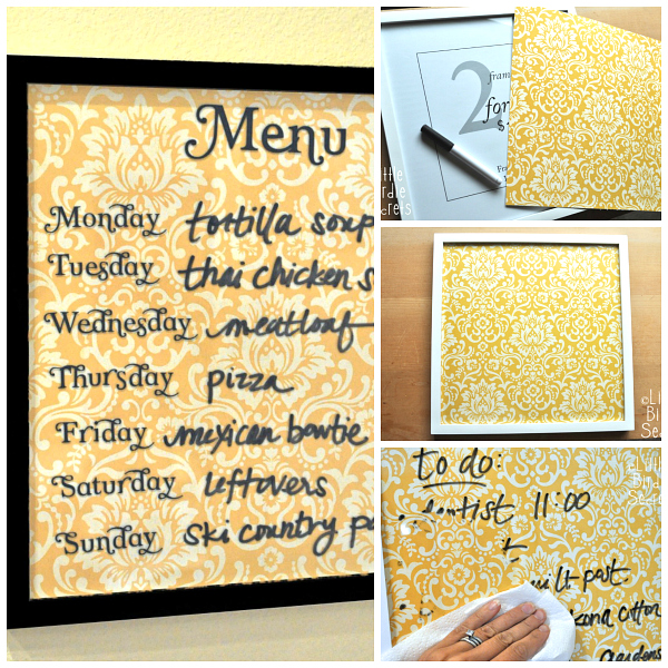 Wipe Off Weekly Menu Board Tutorial