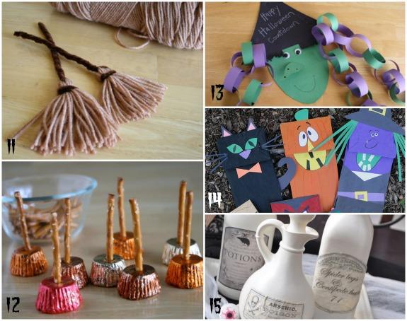 Witch Halloween Crafts makeandtakes.com