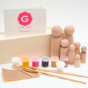 Wooden Doll Paint Kit