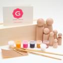 Wooden Doll Paint Kit