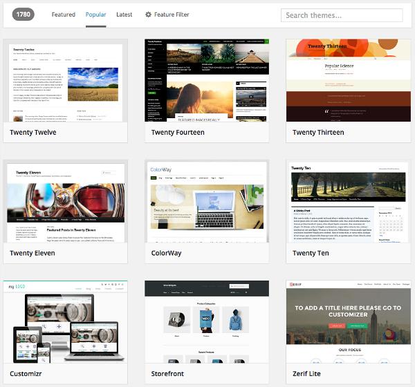 Wordpress Free Themes to Start a Blog