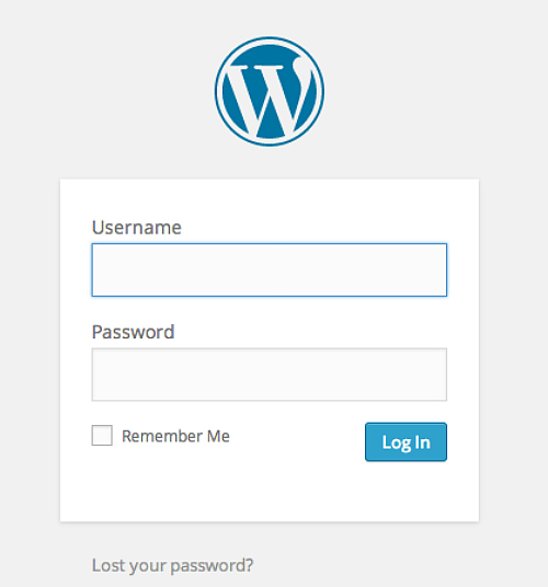 Wordpress Login using BlueHost to Start a Blog