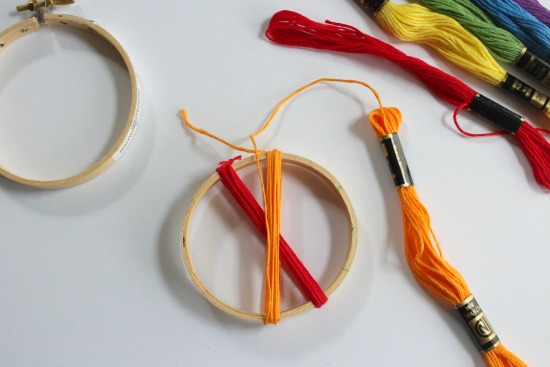 Wrapping Thread Around an Embroidery Hoop