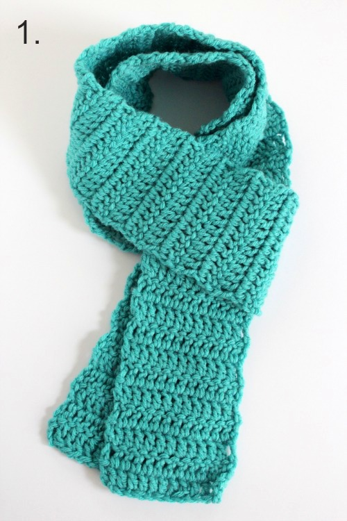 Wrapping a Crochet Scarf