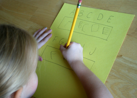 Writing Alphabet Letters