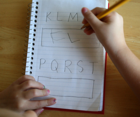Writing Letters of the Alphabet