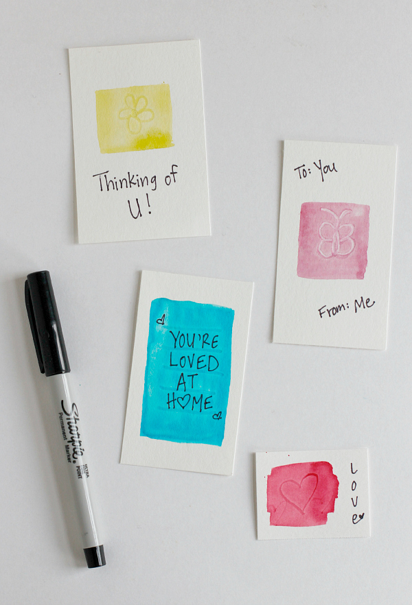 Writing Notes on Watercolor Gift Tags
