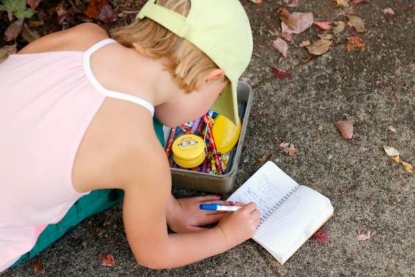 Writing in a Geocaching Log
