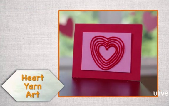 Yarn Heart Art @makeandtakes.com