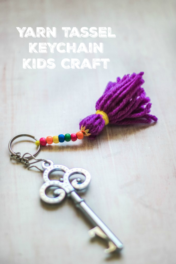 Yarn Tassel Keychain Kids Craft Make And Takes