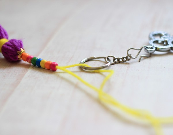 Yarn-Tassell-Keychain-Addition