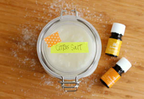 Essential Oils with Coconut Oil Salt Scrub
