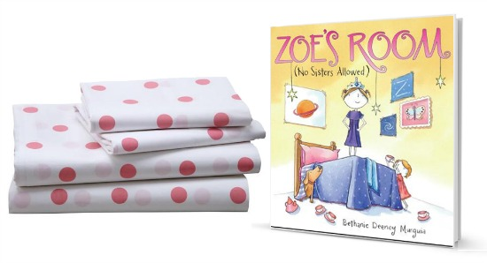 Zoe's Room Book and Sheet set