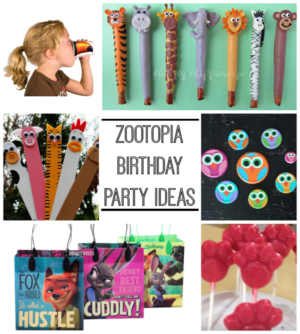 Zootopia Birthday Party Ideas