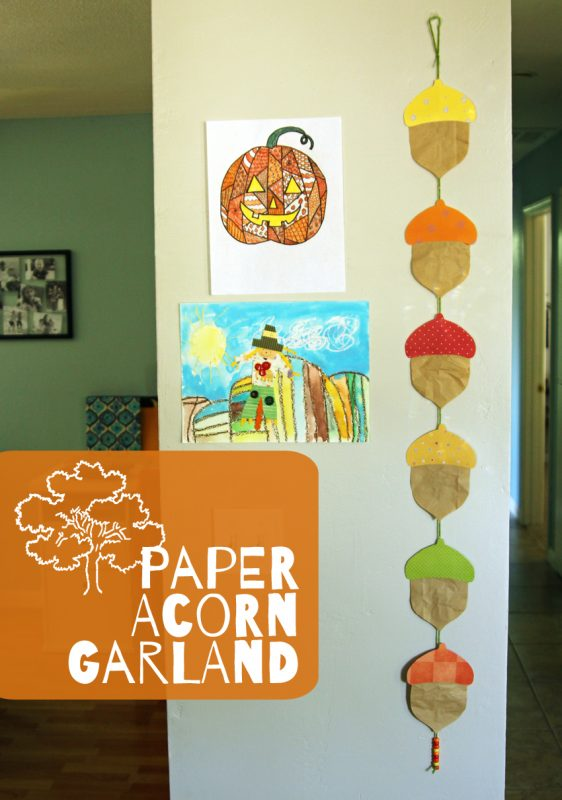 Paper Acorn Garland - Autumn Craft for KIds