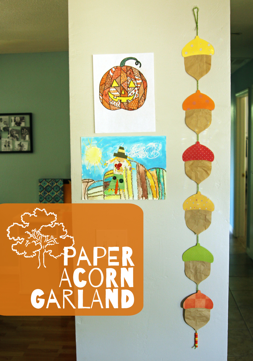 fall paper craft ideas paper acorn garland make and takes 4424