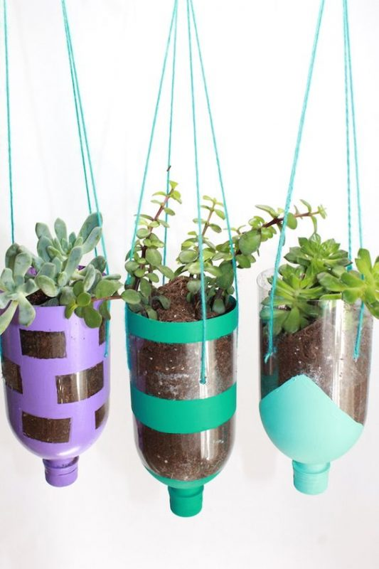 Recycled Water Bottles Hanger
